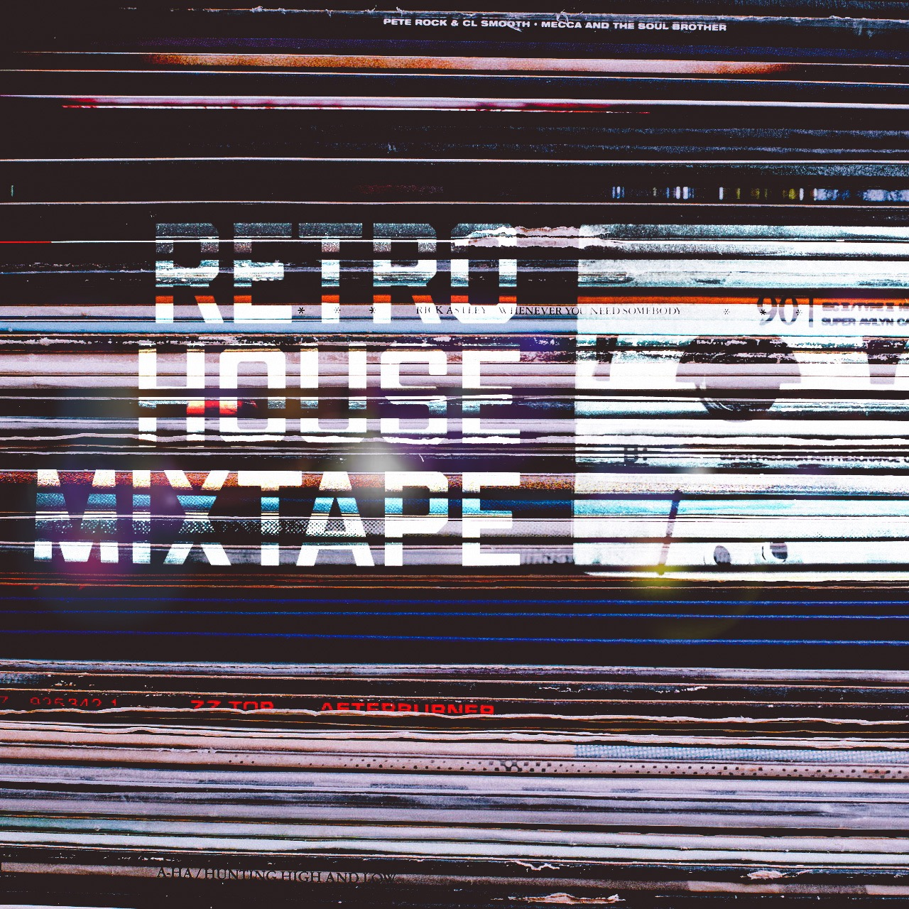 Retro House Mixtape Vinyl Logo