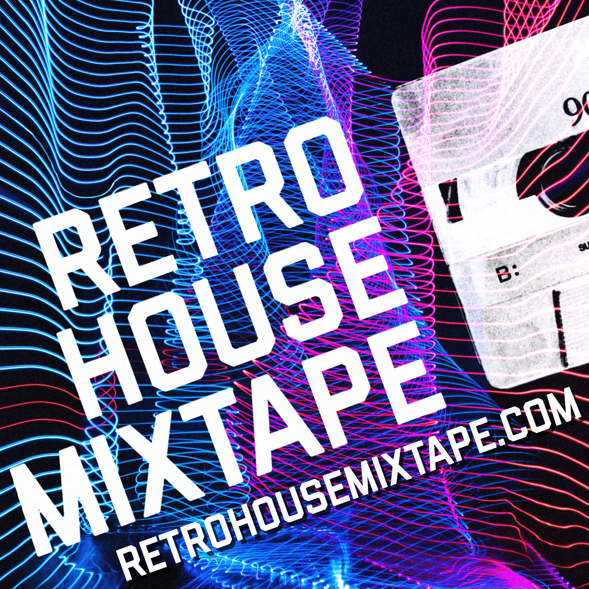 Retro House Mixtape Lasers Logo