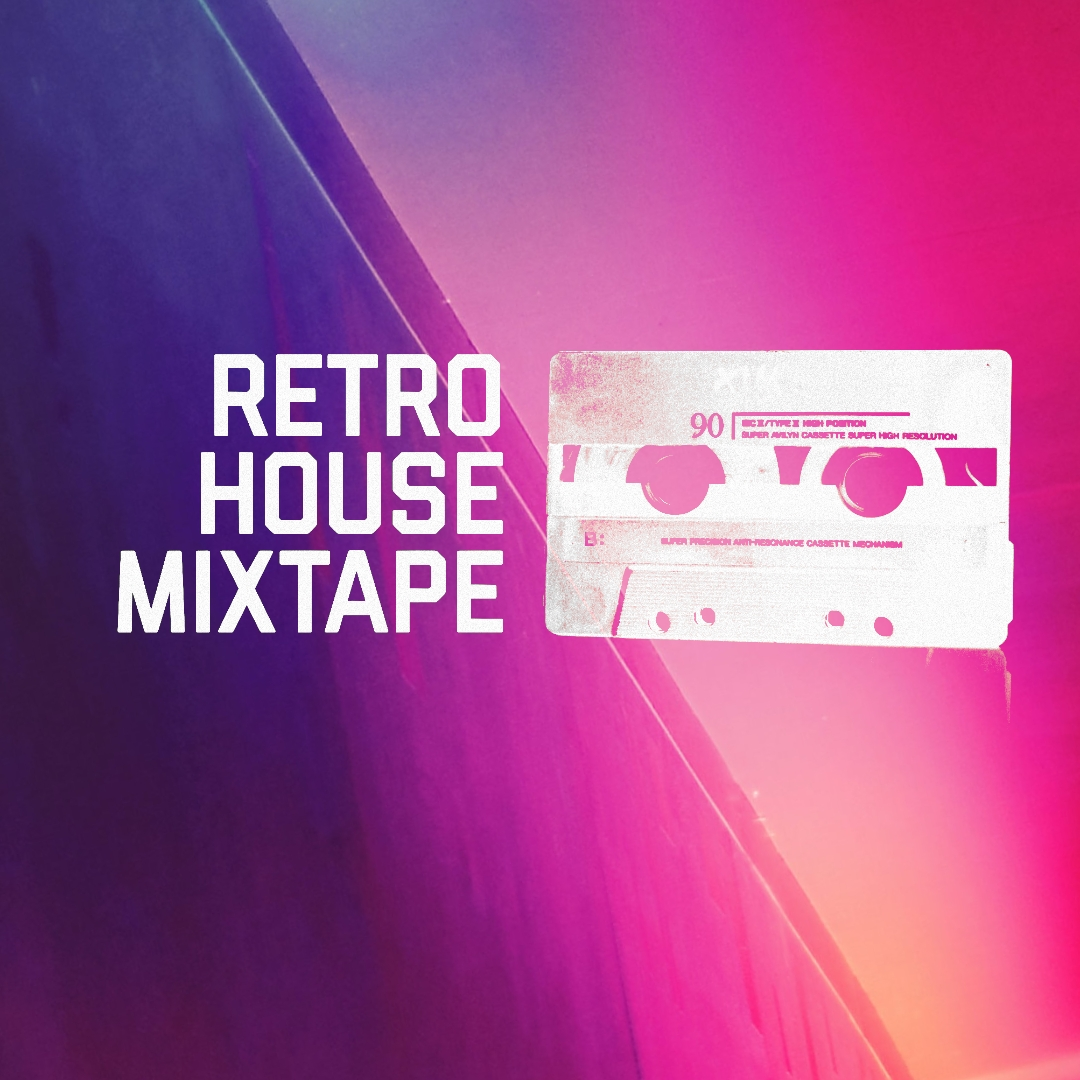 Retro House Mixtape - Neon Logo